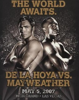 Oscar De La Hoya vs. Floyd Mayweather Jr. Boxing competition