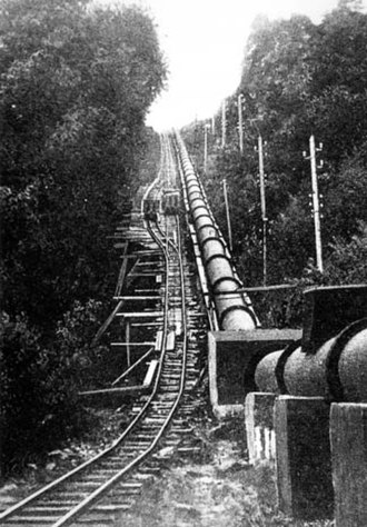 Dolgarrog - The incline up to the Eigiau Tramway, adjacent to the pipeline