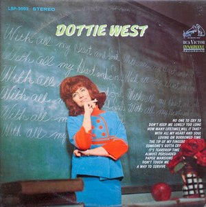 With All My Heart and Soul (album) - Image: Dottie West 1967 album