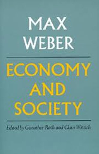 Economy and Society - Hardcover edition
