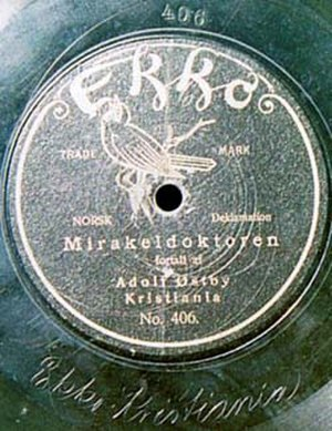Adolf Østbye - Image: Ekko label