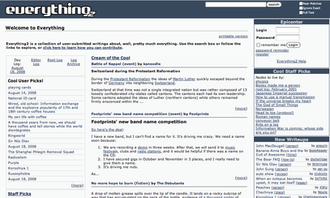 Everything2 - Image: Everything 2 Main Page