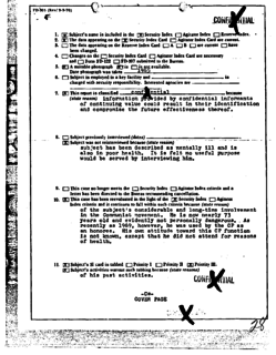 FBI Index System used to track American citizens and other people