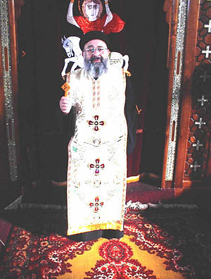 Saint Mary's and Saint Abu Saifain's Coptic Orthodox Church - Image: Fr Philopater Wahba