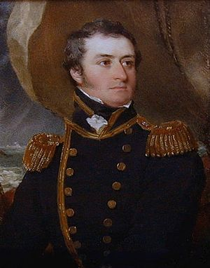 Action of 7 February 1813 - Frederick Paul Irby, in 1822. He commanded Amelia during the action.