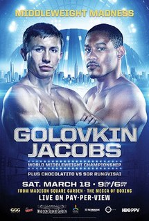 Gennady Golovkin vs. Daniel Jacobs Boxing competition