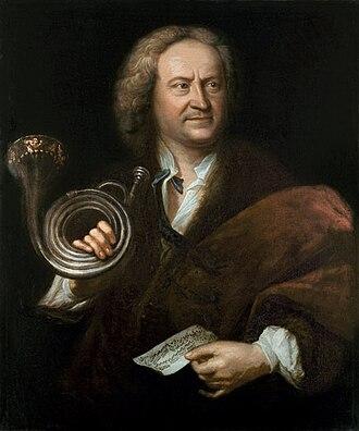 Gottfried Reiche - Portrait, oil on canvas of Gottfried Reiche (1667–1734) by Elias Gottlob Haussmann (1695–1774), 1727