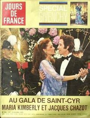 Jours de France - Jours de France in the seventies (April 73) with  Maria Kimberly and Jacques Chazot on the cover.