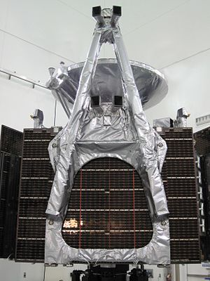 Magnetometer - The Magnetometer experiment for the Juno orbiter for Juno can be seen here on the end of a boom. The spacecraft uses two fluxgate magnetometers. (see also Magnetometer (Juno))
