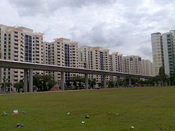 Jurong West Extension MRT track along JW Street 65.