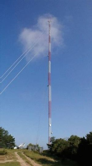 KXAN-TV - KXAN's transmission tower.
