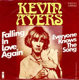 Falling in Love Again (Can't Help It) - Image: Kevin Ayers Falling In Love Again single
