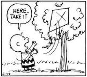 Kite-Eating Tree - Image: Kite eating tree and Charlie brown