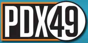 "KPDX - KPDX logo under the ""PDX 49"", used from April 1, 2006 to September 7, 2008; this was the last logo used by the station to incorporate its channel number."