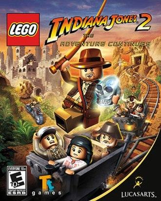 Lego Indiana Jones 2: The Adventure Continues - Cover art for Lego Indiana Jones 2: The Adventure Continues
