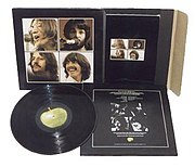 The original box set packaging of Let It Be. It contained a 160 page booklet with photos and quotes from the film.