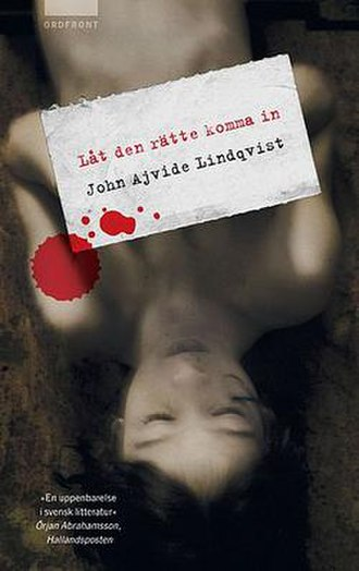 Let the Right One In (novel) - Swedish book cover