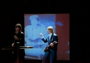 Lock and Key (Rush song) - Geddy Lee and Alex Lifeson as seen in the video.