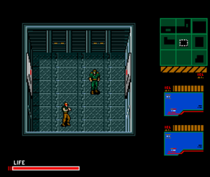 Metal Gear 2: Solid Snake - Solid Snake confronts Gray Fox in one of the final battles.