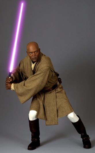 Mace Windu - Samuel L. Jackson as Mace Windu.