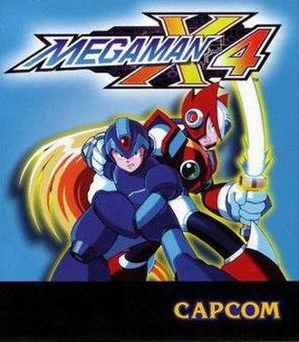 Mega Man X4 - English version cover art