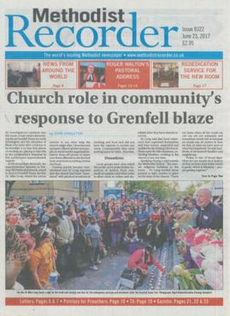 Methodist Recorder - Front page on 23 June 2017