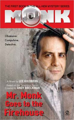 Mr. Monk Goes to the Firehouse - 1st edition 2006 paperback cover