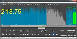 Editing audio in mp3DirectCut