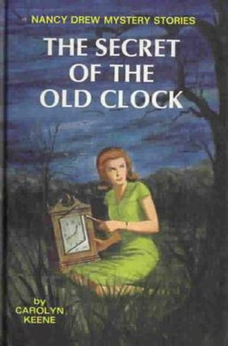 Nancy Drew - 1959 cover of the revised version of The Secret of the Old Clock, the first Nancy Drew mystery