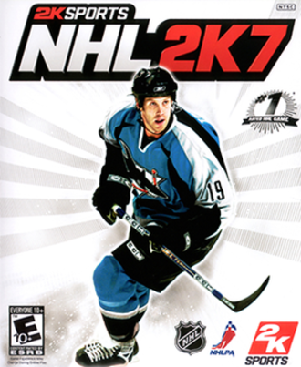 NHL 2K7 - The cover of NHL 2K7 featuring the San Jose Sharks' Joe Thornton.