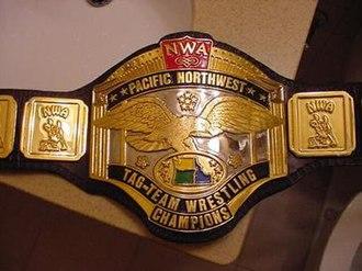 NWA Pacific Northwest Tag Team Championship - NWA Pacific Northwest Tag Team Championship belt