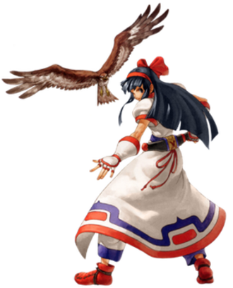 Nakoruru - Nakoruru in NeoGeo Battle Coliseum   (with Mamahaha the hawk)