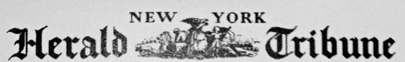 New York Herald Tribune masthead -- 1936