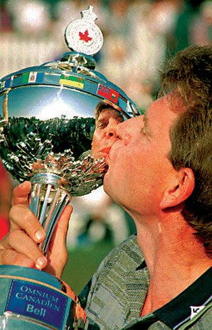 Nick Price - Nick Price with Canadian Open trophy