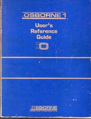 Osborne 1 - Image: Osborne 1 user manual cover 640