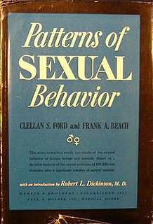 <i>Patterns of Sexual Behavior</i> 1951 book by Clellan S. Ford and Frank A. Beach
