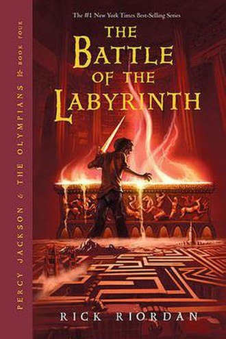 The Battle of the Labyrinth - The front cover of the first U.S. edition.