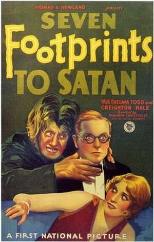 Seven Footprints to Satan - theatrical release poster