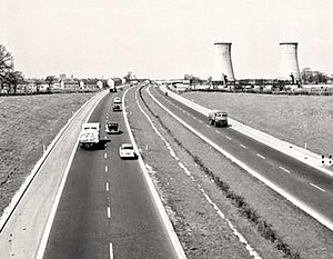 Preston By-pass - The by-pass being used shortly after opening, 1958