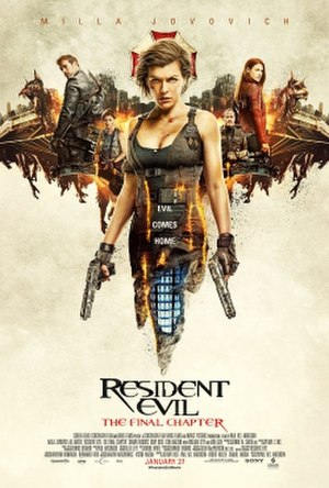 Resident Evil: The Final Chapter - Theatrical release poster