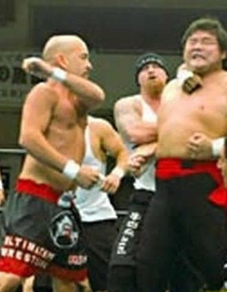 Rick Bassman - Rick Bassman(l) at Korakuen Hall, with Shinya Hashimoto, in May 2004.