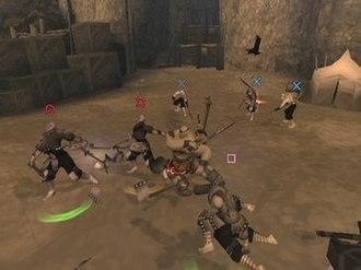 Rise of the Kasai - Baumusu locked on to multiple enemies.