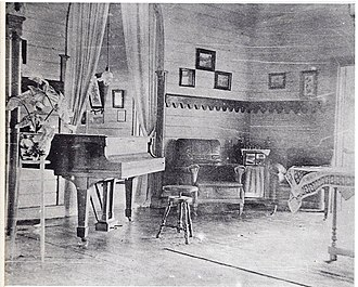 Rabaul - Robert Louis Stevenson's piano in Queen Emma's Rabaul living room in 1914.