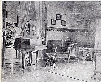 Rabaul - Robert Louis Stevenson's piano in Queen Emma's Rabaul living room in 1914.