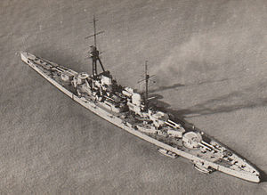 SMS Derfflinger - Derfflinger seen from the air, c. 1918