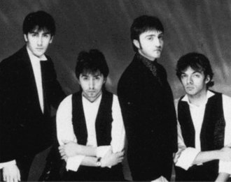 Scarlet Party - Scarlet Party circa 1982: (left to right) Heaphy, S. Dye, G. Dye, Gilmour