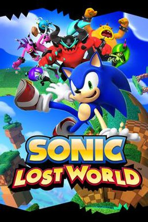 Sonic Lost World - North American Wii U cover art