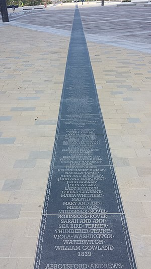 Keel Square - The Keel Line, remembering the shipbuilders of Sunderland and the ships built upon the river wear