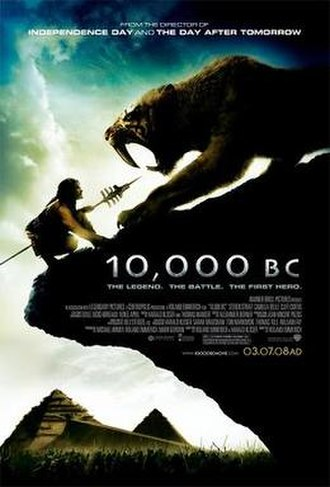10,000 BC (film) - Theatrical release poster