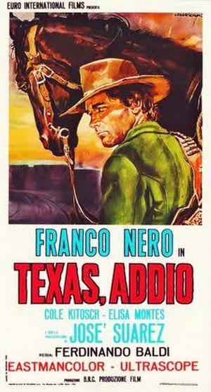 Texas, Adios - Italian film poster